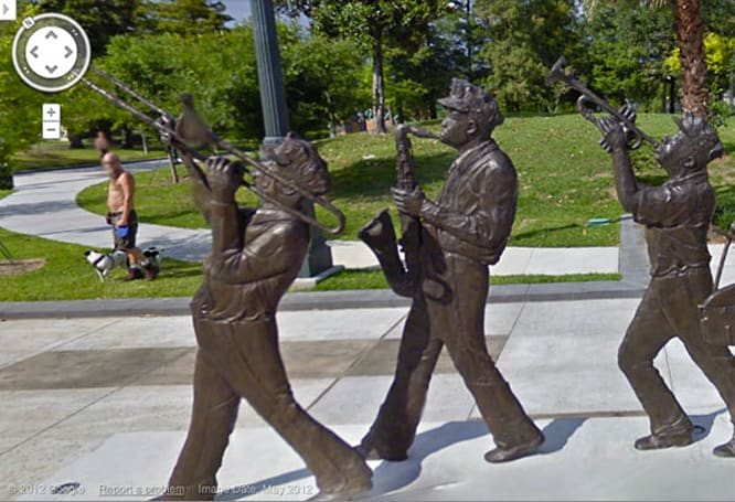 Google Maps updates streetview for New Orleans, reminds us the jazz plays on
