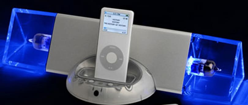 Retro glow: iBlueTube vaccum tube amp for iPod