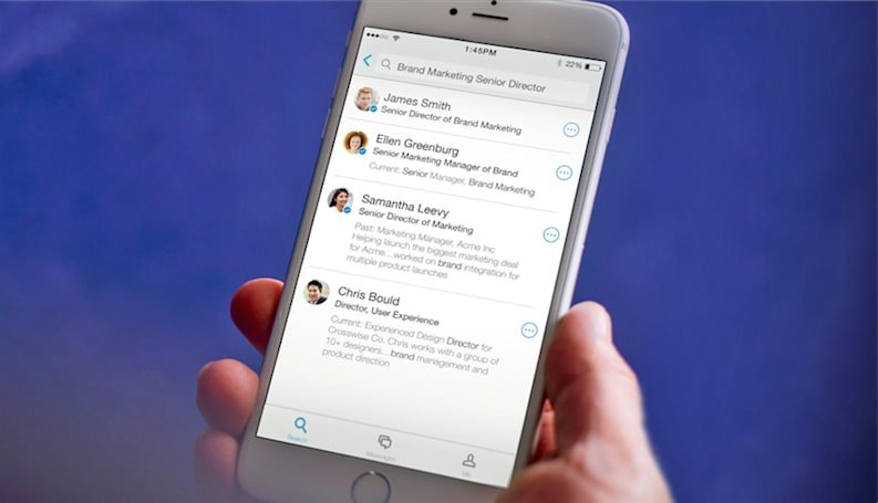 LinkedIn's Lookup app finds co-workers with the right skills