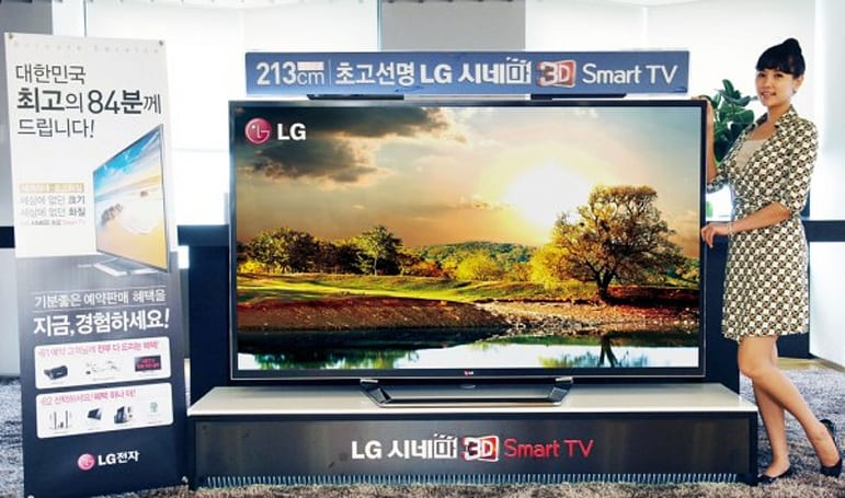LG 84-inch 'ultra definition' 4K HDTV going on sale in limited quantities in Korea