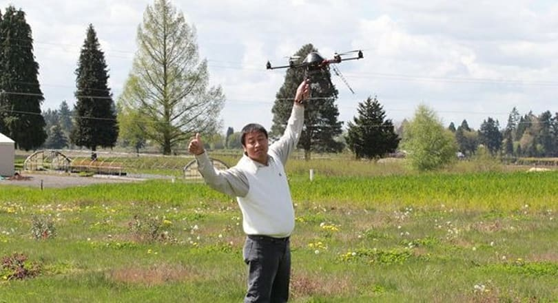 Six-rotor drone counts trees, not kills