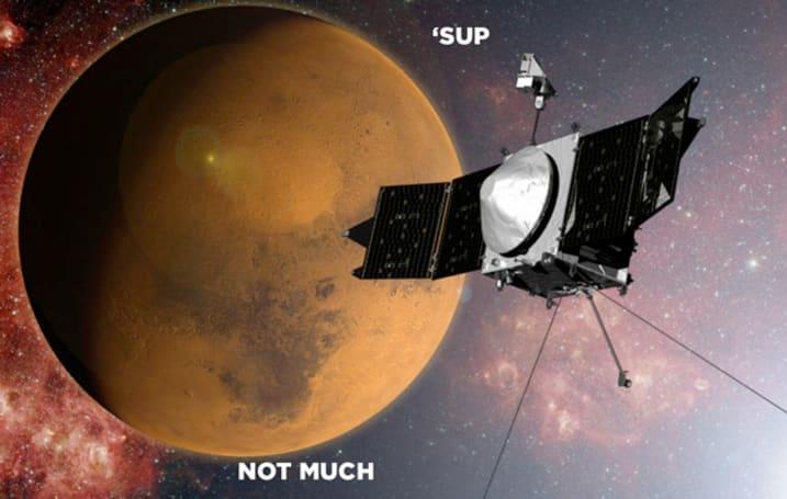 NASA's MAVEN probe arrives in orbit around Mars