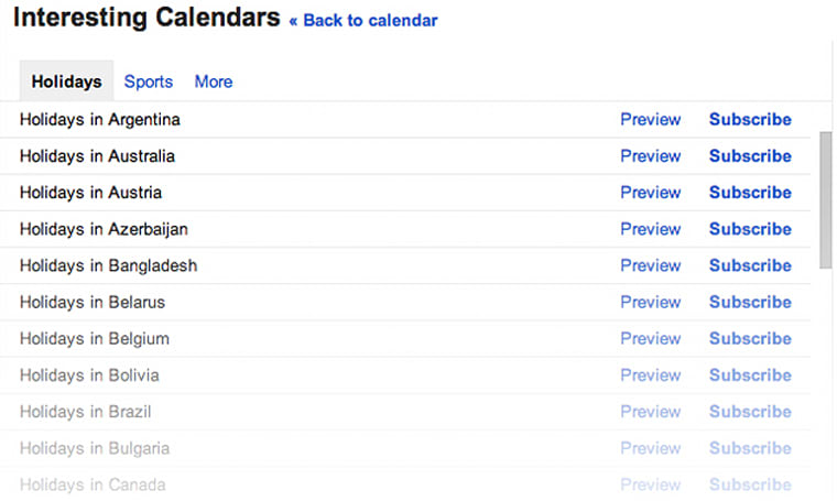 Google Calendar now helps you remember holidays in 30 more countries