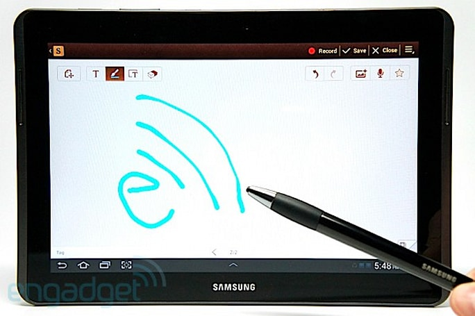 Samsung Galaxy Note 10.1 preview (video)