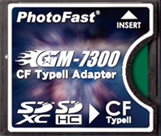 PhotoFast GM-7300 SDXC-to-CF adapter gives your pro DSLR another storage option