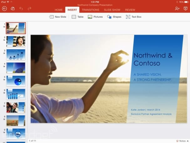 With iPad app, Microsoft begins to move out of the office