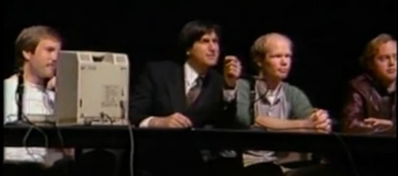 Never-before-seen video of Steve Jobs and the original Mac team demoing the Mac in public for the first time