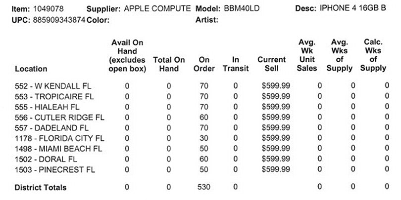 Best Buy's iPhone 4 inventory plans revealed by another purported leak