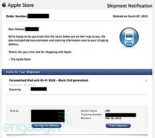 iPad pre-orders get shipping reference, March 16 arrival date