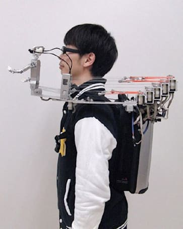 Oh, the places you'll go... with this shoulder-mounted telepresence robot (video)
