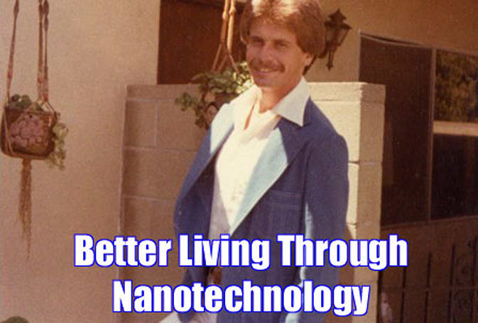 Nanotech polyester fabric never gets wet, brings back the leisure suit in a big way