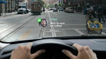 In-car heads-up display lets you respond to texts with hand motions and voice