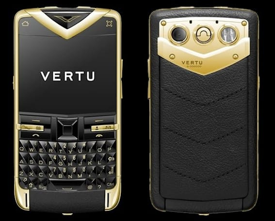 How much will a gold Vertu Constellation Quest set you back? About $27K, turns out