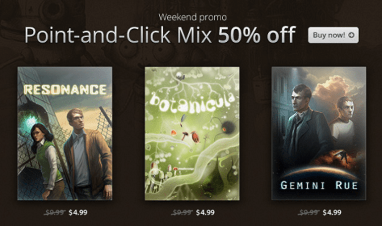 Point and click on these GoG adventure game discounts