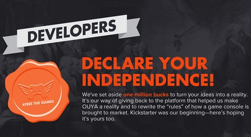 OUYA's Free The Games Fund now live, offers $1 million toward crowdfunded titles