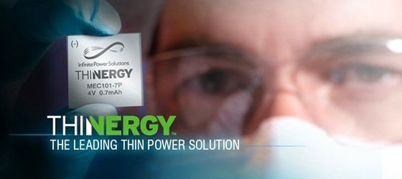 Thinergy micro-battery retains charge for years, very easy to misplace