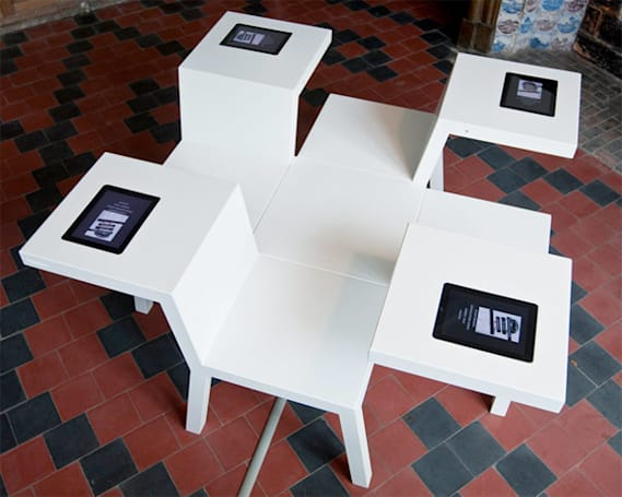Bram Boo's four-seat, iPad-equipped Salsa Table looks to educate