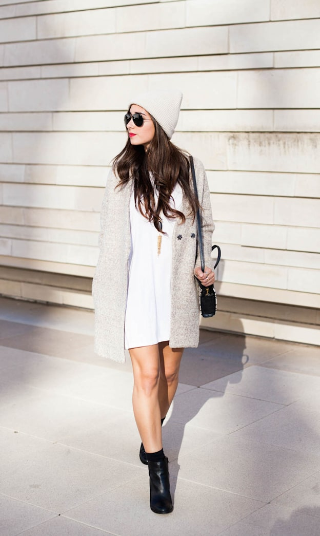 Street style tip of the day: A slouchy boyfriend coat