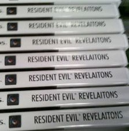 Resident Evil 'Revelaitons' misprint makes it to retail [Update: Capcom offers statement, replacement]