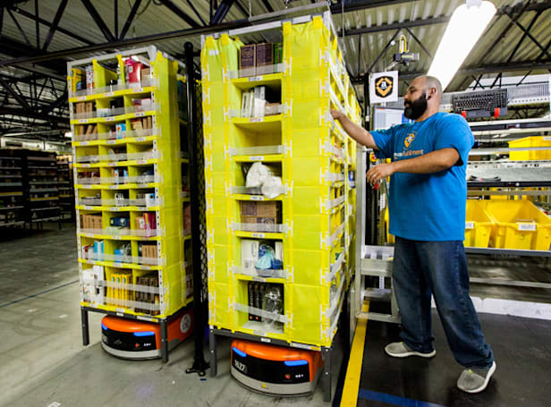 Amazon hosts a robot competition to automate its warehouses
