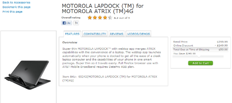 The original Motorola LapDock can now be yours for $50