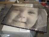 CNC machine carves dot drawing portraits for your living room walls