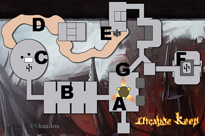 Map of Utgarde Keep, and what we know about it
