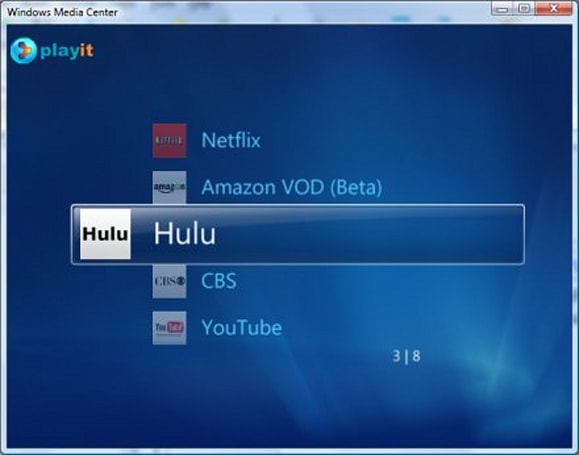 vmcPlayIt pulls PlayOn streams into Media Center and Media Center Extenders
