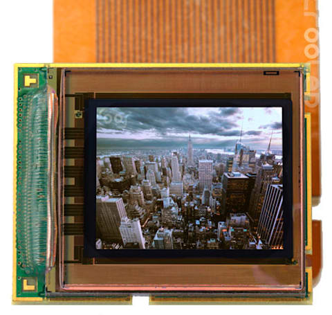 MicroOLED viewfinder delivers 5.4 megapixels in 0.61-inch monochrome display