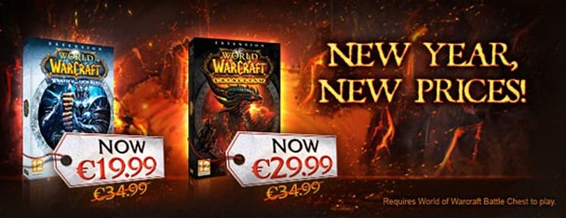 Permanent price cuts to WoW expansions in the EU