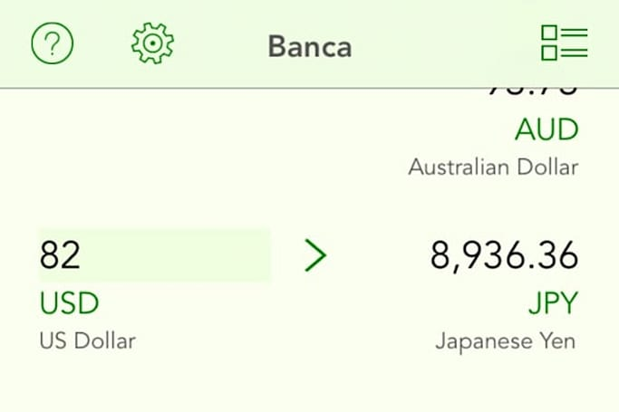 Banca is the most beautiful currency converter for iOS
