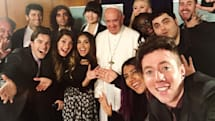 Pope meets YouTube creators from around the world