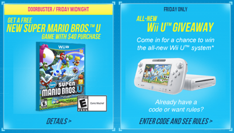 Old Navy's Black Friday 'Cheermageddon' includes free New Super Mario Bros. U