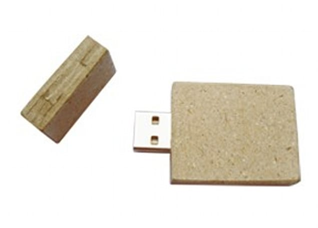 Recycled newsprint USB flash drive for the eco-minded geek
