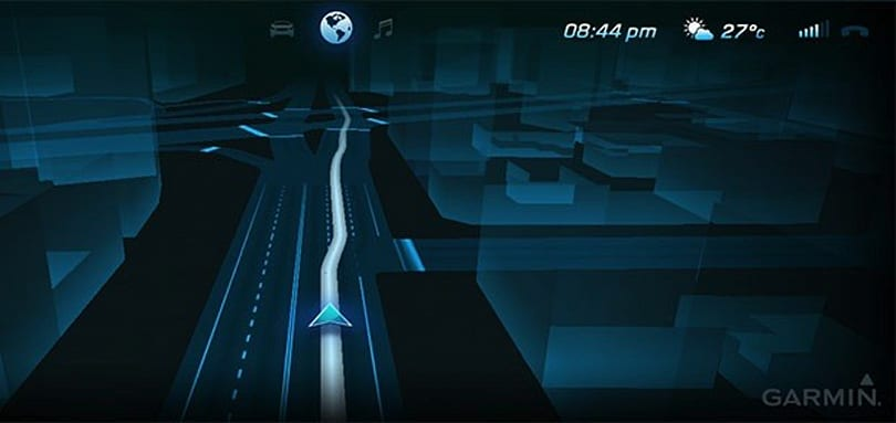 Garmin demos futuristic sat-nav display inside Mercedes S-Class concept