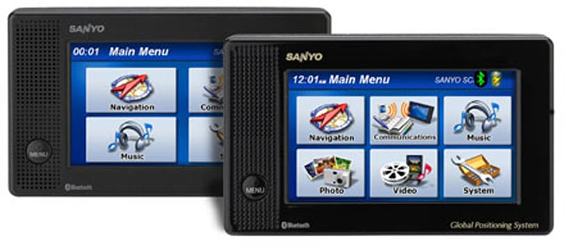 "Sanyo intros a pair of new ""Easy Street"" GPS units"