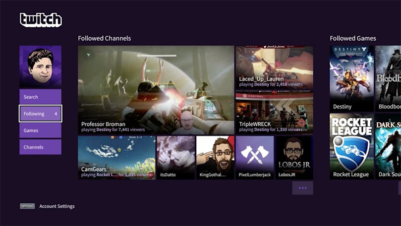 Twitch finally gets a proper PS4 streaming app