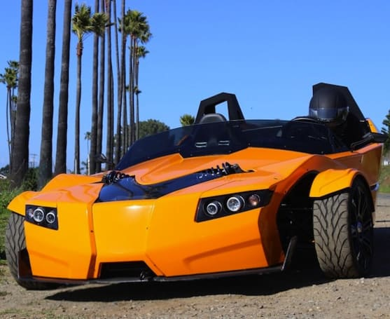 Epic's Torq Roadster three-wheeled EV gets taken on a test drive (video)