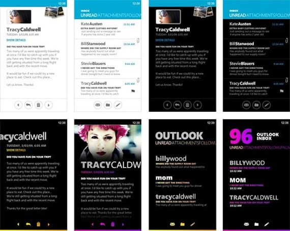 Windows Phone 7 Series' cutting room floor is an extravaganza of bright colors and chunky fonts