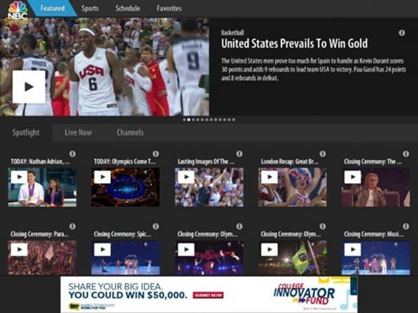 NBC rebrands Olympics app as NBC Sports Live Extra, promises streams for a wider athletic universe