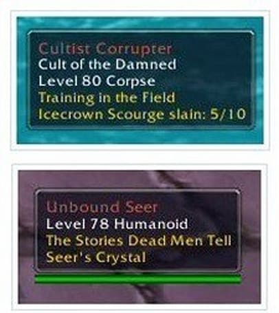 Quests added to mob tooltips on the PTR