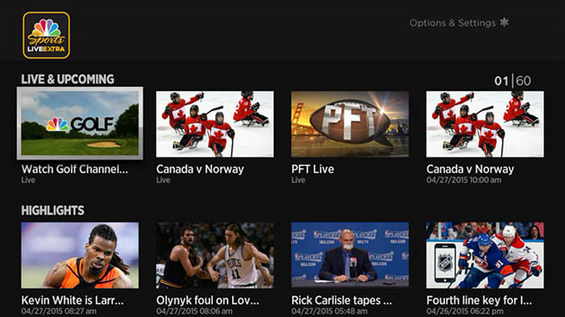NBC's live sports streaming comes to Apple TV and Roku players