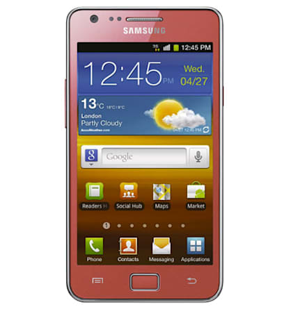Pink Samsung Galaxy S II makes UK bow on cupid's bow, is the new Godiva