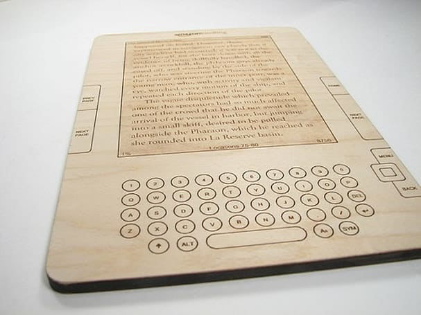 Amazon Kindling wooden e-book is a luddite's dream of the future