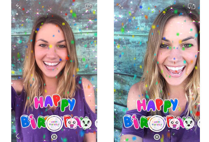 Snapchat lenses help you celebrate your birthday (or a pal's)