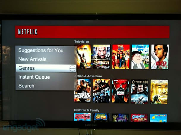 New Netflix Watch Instantly interface showing up on Samsung HDTVs