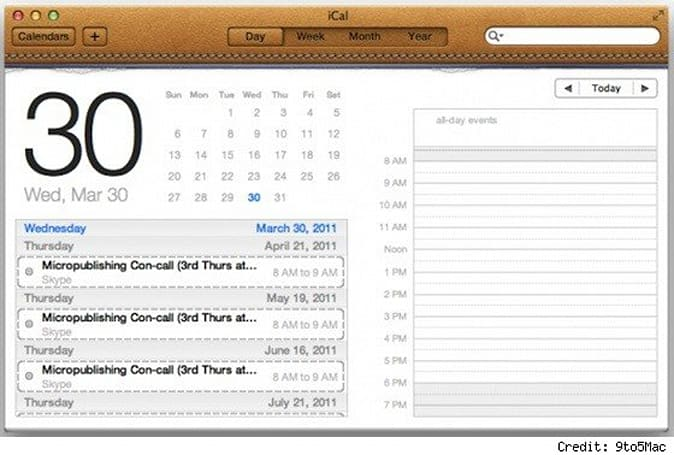 Latest Lion build features iCal, iChat redesign