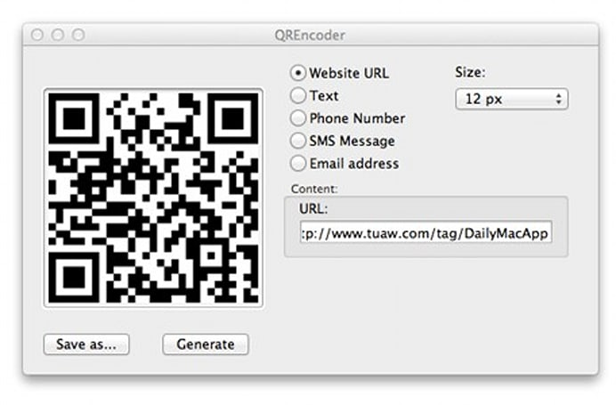 Daily Mac App: QREncoder