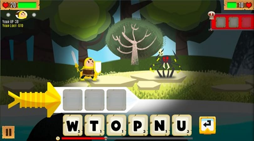 Denki Word Quest brings the Quarrel to HTML5