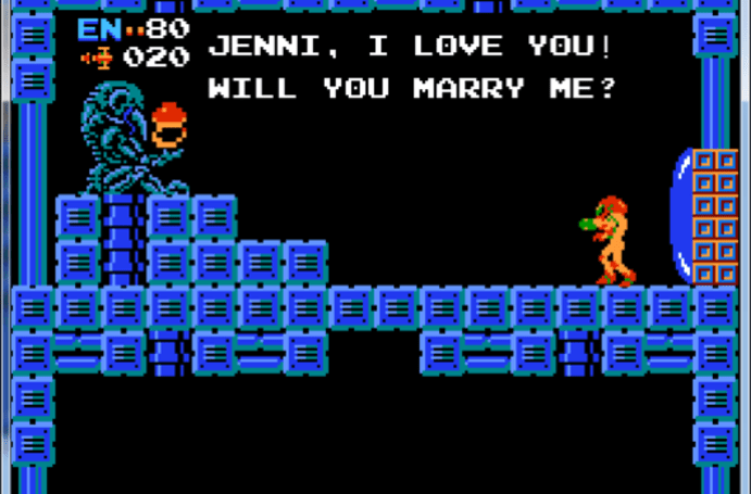 A Metroid marriage proposal that would make the Chozo proud